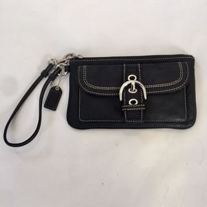 Coach Soho Buckle Flap Wristlet Clutch